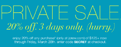 J. Crew Secret Sale