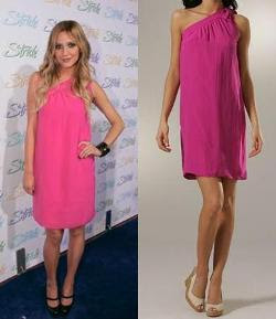 Ashlee Simpson in a Pink Dress