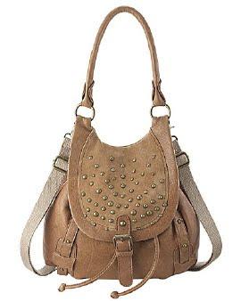 Studded Suede Backpack