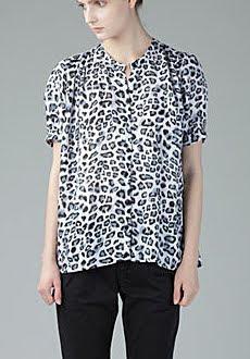 Boxy Leopard Print Blouse