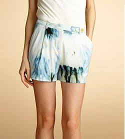 Tie Dyed Tailored Shorts