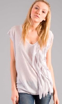 Ruffled Linen Sweater
