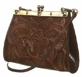 Small Frame Tooled Bag