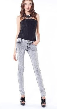 Super Skinny Acid Washed Jeans
