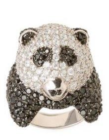 Pave Panda Ring