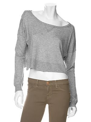 Cropped Sweatshirt Sweater