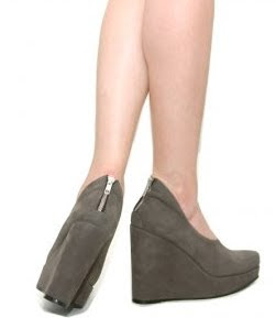 Suede Wedge Platforms