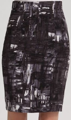 Brushstroke Plaid Skirt