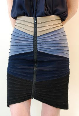 Tiered Zip Front Skirt