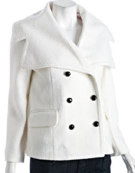 White Wool Peacoat