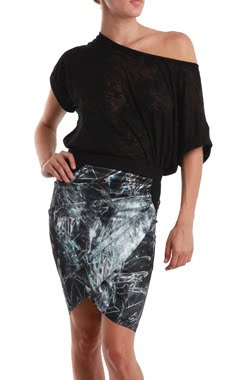 Galaxy Print Wrap Skirt