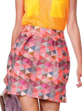 Woven Bubble Skirt
