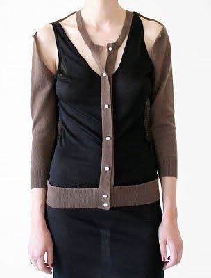 Cut Out Cardigan