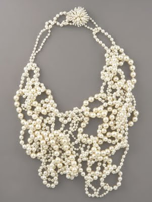 Statement Pearl Bib Necklace