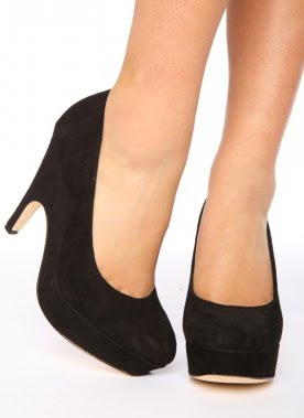 Suede Wedge Pumps