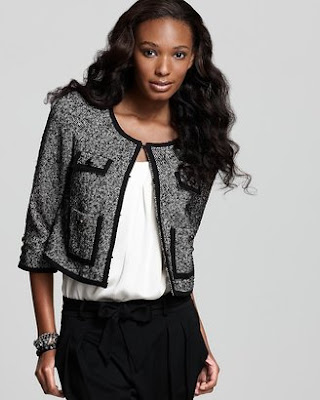 Cropped Tweed Blazer