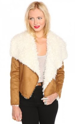 Shearling Drape Jacket