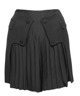 Pleated Tailcoat Skirt