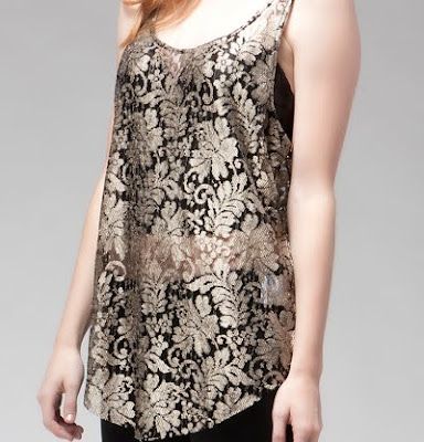 Lace Metallic Tank