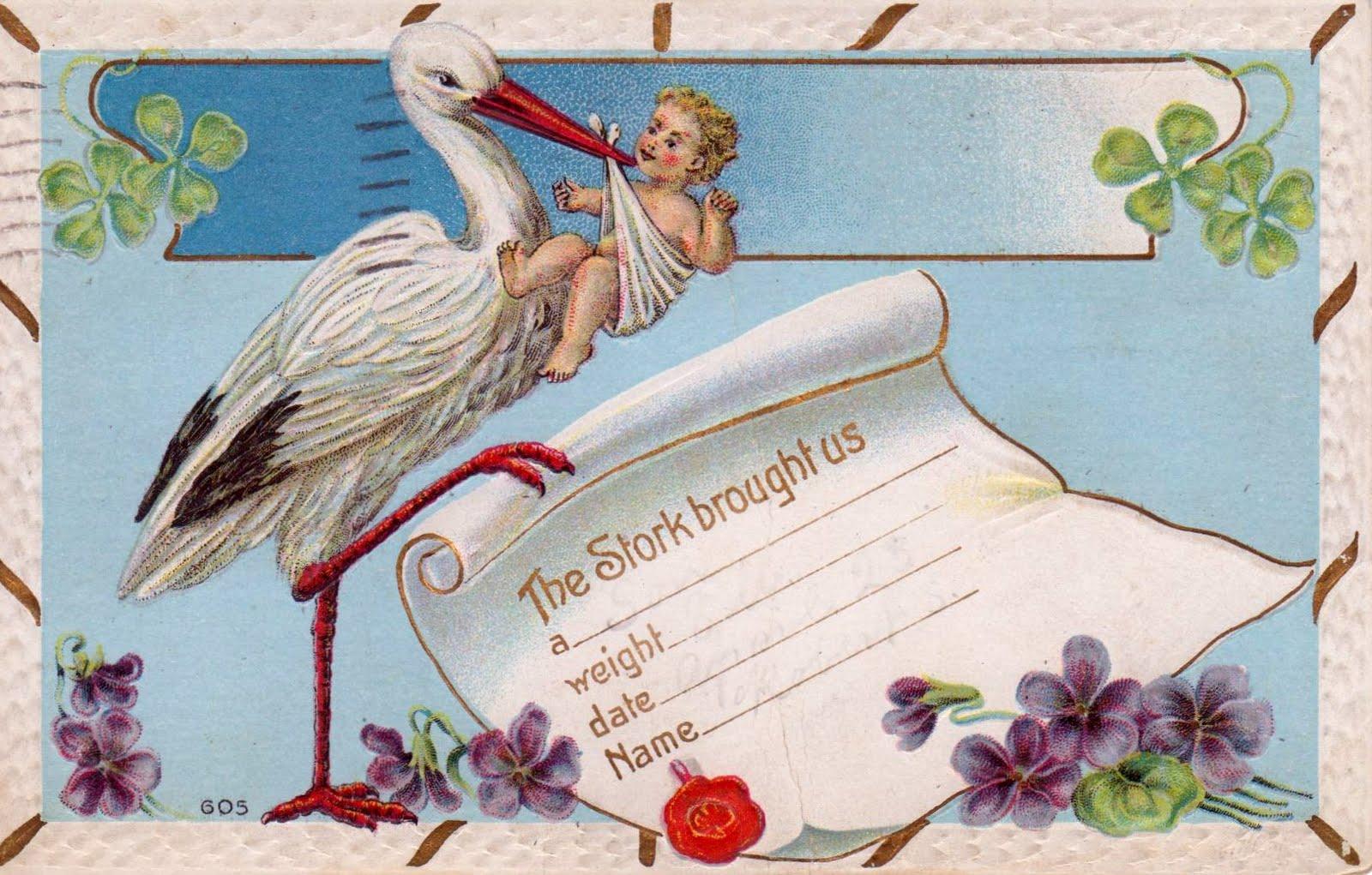 Maximum Embellishment VINTAGE BABY ANNOUNCEMENT 1911 – Vintage Birth Announcement