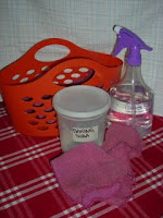 Cleaning supplies - baking soda, vinegar, and cotton rags