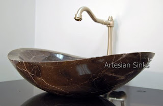 marble stone bathroom vessel sink