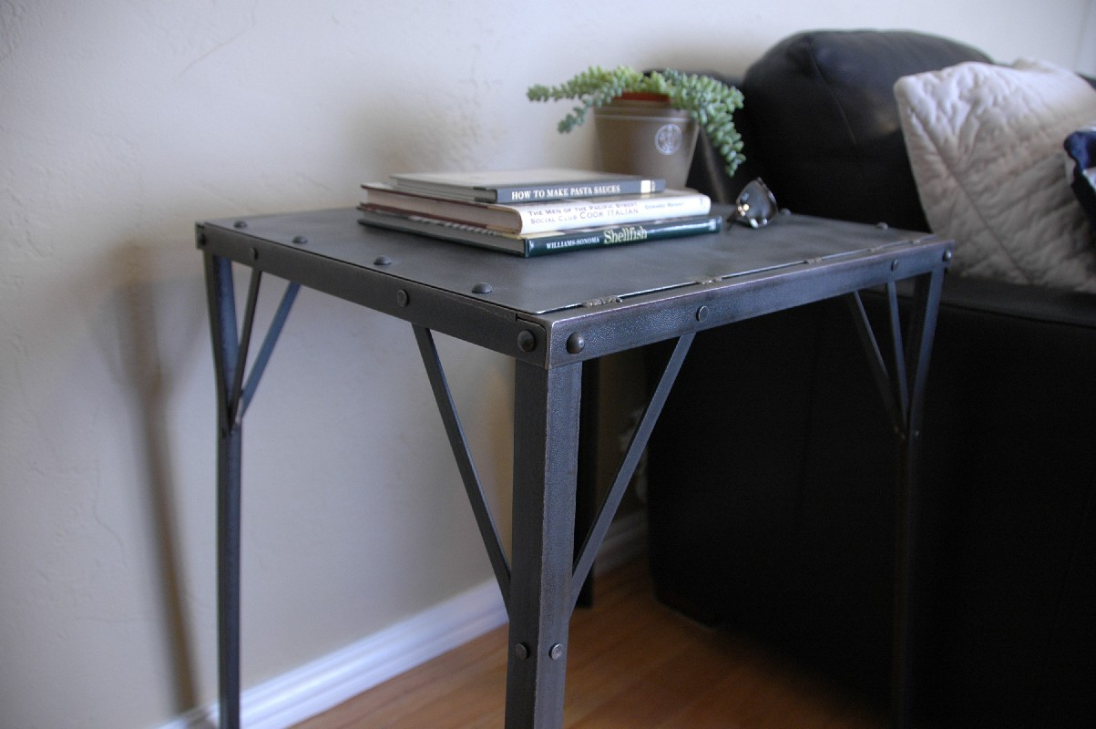 Vintage arizona vintage industrial side end table for Retro side table