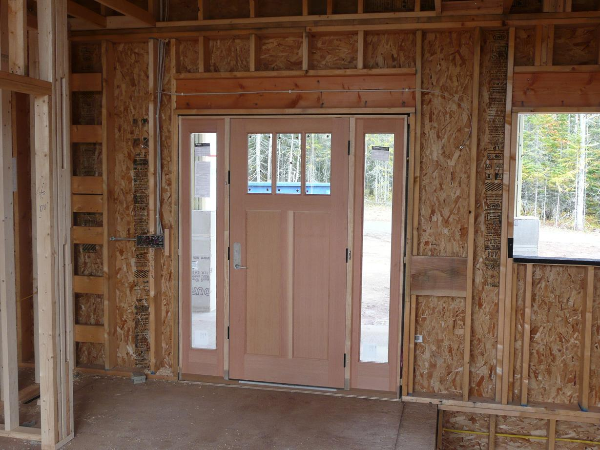 922 #402414 And C Build A House: Wiring/Plumbing/HVAC Nearly Complete  Septic  pic Front Doors Installed 47011229