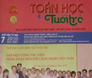 Tap chi Toan hoc - Tuoi tre thang 7 - 2010 so 397