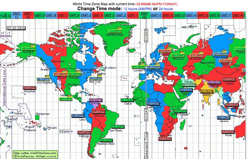 Wide Awake History September - North carolina time zone