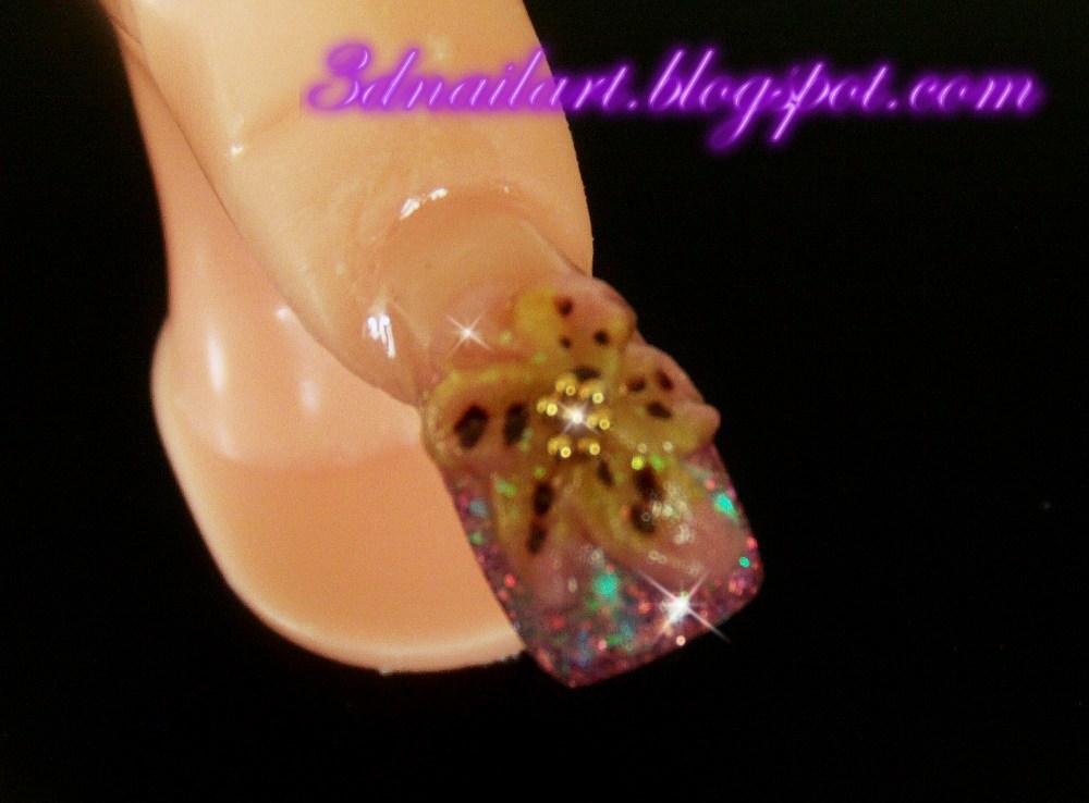 3d nail art tiger lily mothers day nail art tiger lily mothers day nail art prinsesfo Gallery
