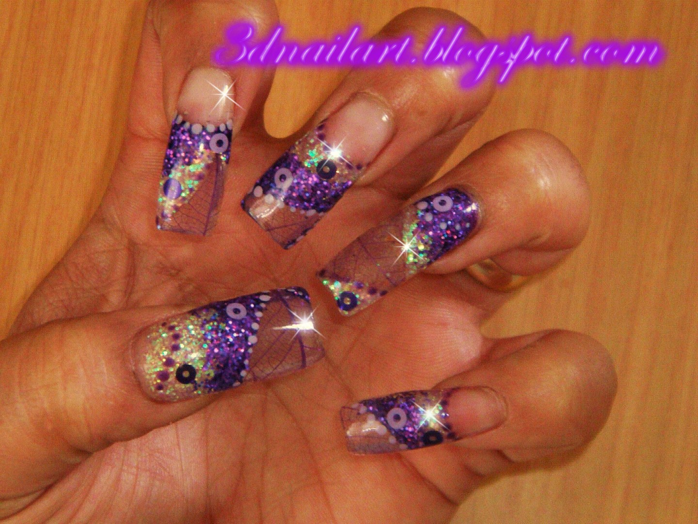 Fall Acrylic Nail Designs http://3dnailart.blogspot.com/2010/10/fall-acrylic-design-with-skeleton.html
