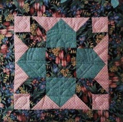 Hand pieced and quilted wall hanging