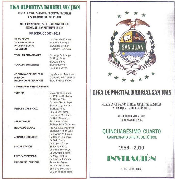 INAUGURACION DEL QUINCUAGESIMO CUARTO CAMPEONATO OFICIAL DE LIGA SAN JUAN