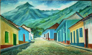 """""""Callearriba"""" de Trujillo [pintor Bartolo Lugo, 1978]"""