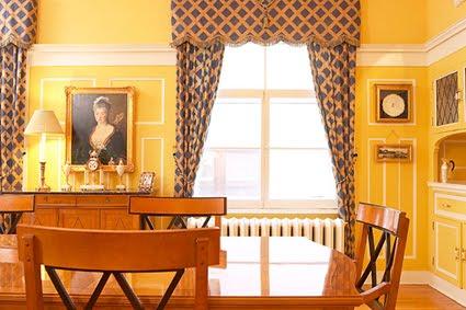 Luxury Home Interior Design Yellow Dining Room
