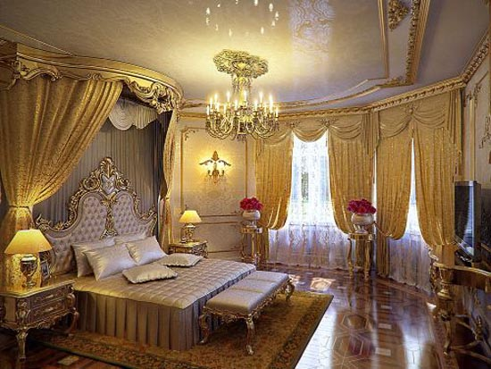 Luxury home interior design elegant bedroom family for Expensive bedroom designs