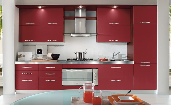 Inspiration Kitchen Design Red Part 15