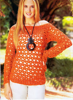 Bluson Calado o Sueter tejido Crochet
