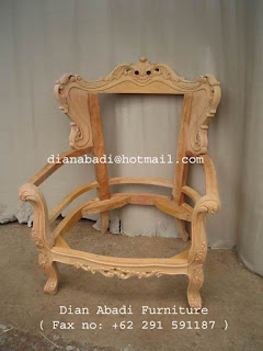 Furniture klasik kursi klasik mahoni supplier kursi klasik mahoni ukir jepara mentah unfinished