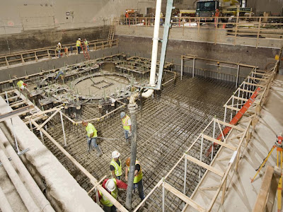 Concrete Pour in NASA Groundwork for Testing Orion