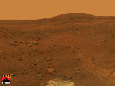 This view from the panoramic camera on NASAs Mars Exploration Rover Spirit