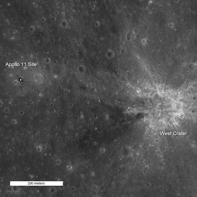 Apollo 11 landing site as seen by LRO