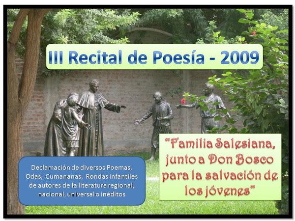 Recital de Poesía 2009