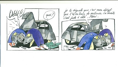 Heffe une petite touche d 39 humour m canique - Dessin 2cv humour ...