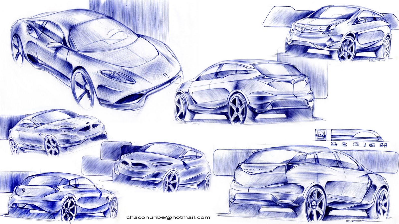 Car design and my life...: Blue Pen Sketches...:)
