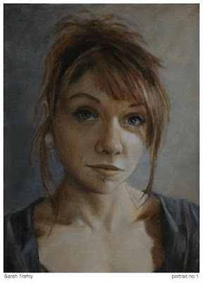 oil painting of female portrait by Sarah Trefny