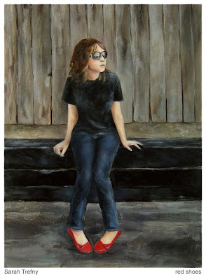 oil painting of girl by Sarah Trefny