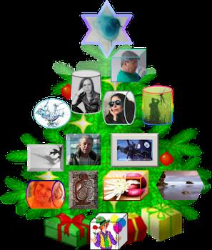Clica na árvore para ler Retalhos de Natal