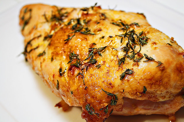 Oven Roasted Turkey Breast With Pan Gravy